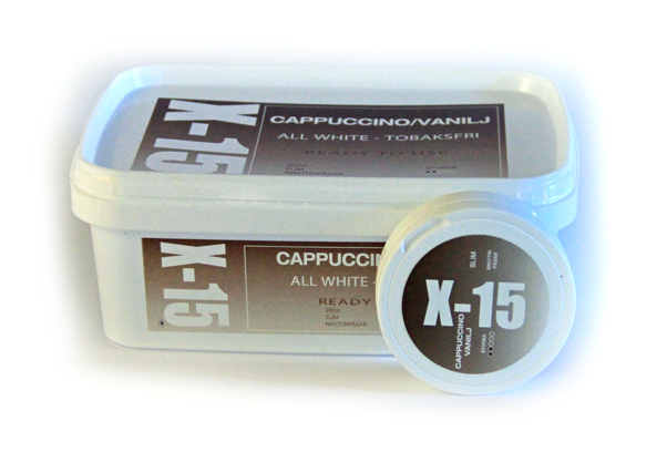 Portionssnus X-15 All White Cappuccino/Vanilj