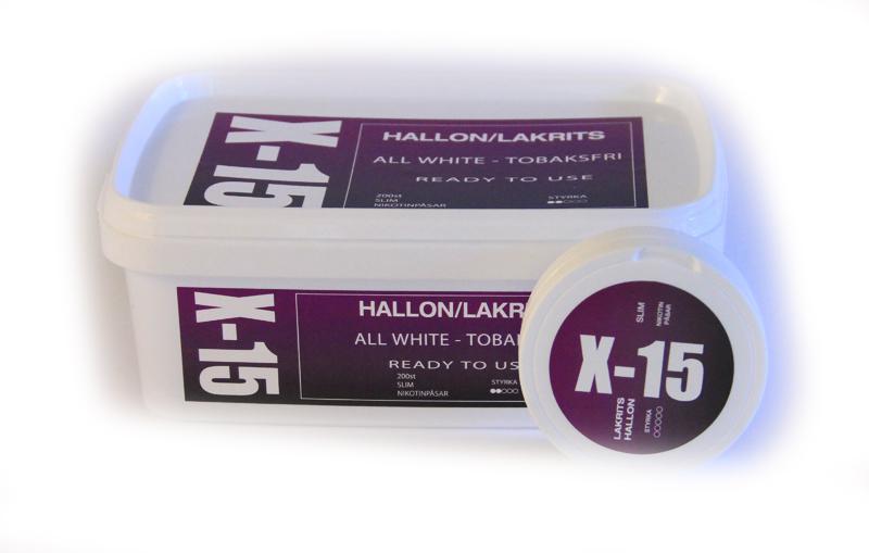 Portionssnus X-15 All White Hallon/Lakrits