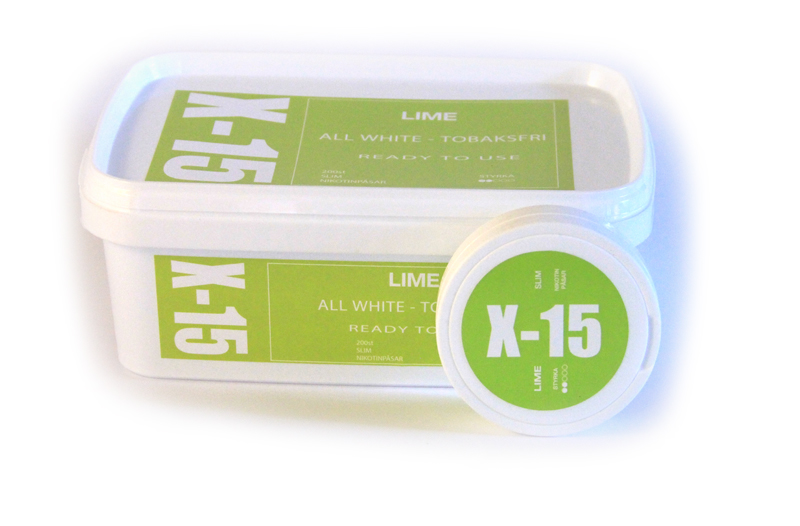 Portionssnus X-15 All White Lime