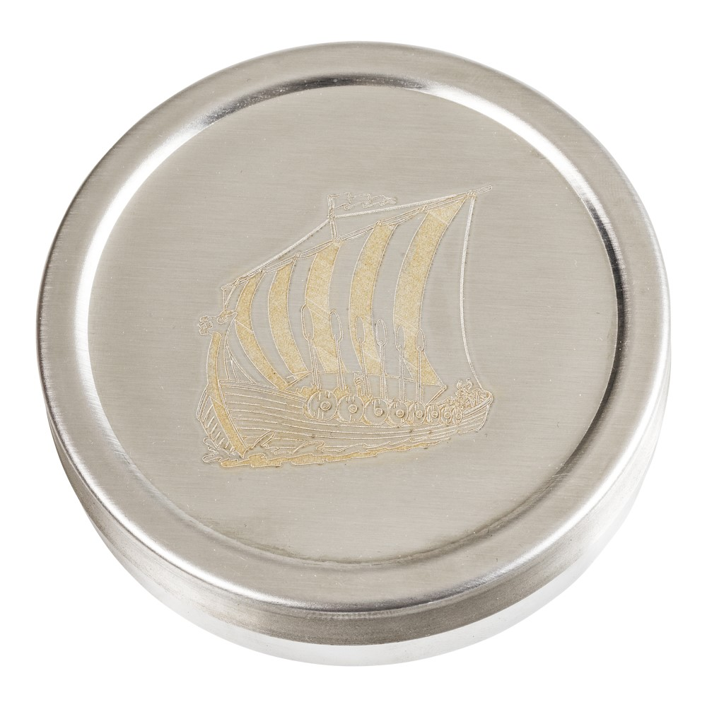 Snusdosa rostfri (Vikingaskepp)
