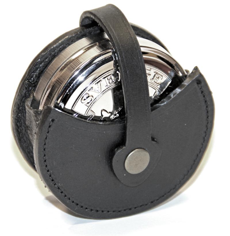 Snusdosehållare i svart läder