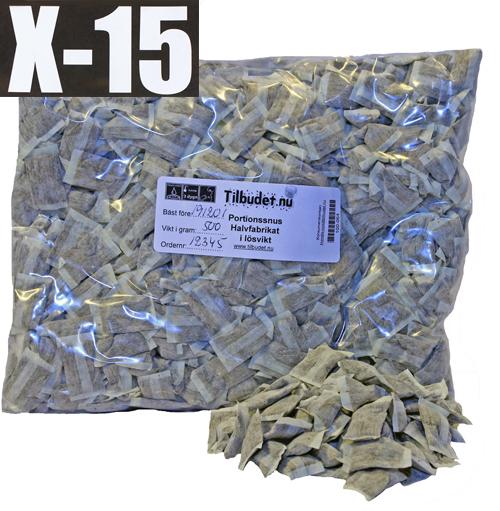 Portionssnus X-15 Naturell Stark Lösvikt 100 gram