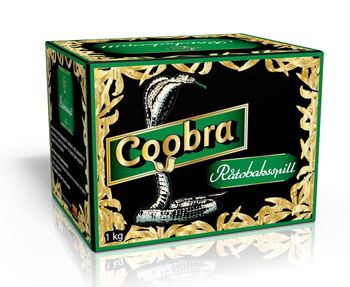 Råtobaksspill Coobra Grön standard 1 Kg