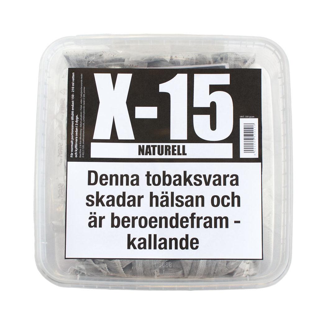 Portionssnus X-15 Naturell 240 gram