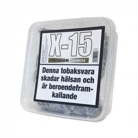 Portionssnus X-15 Premium White Mini 150 gram