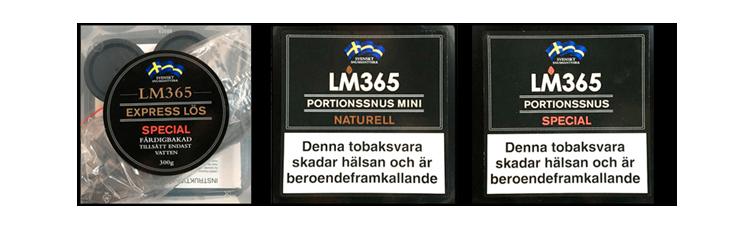 Portionssnus och lössnussatser från LM365